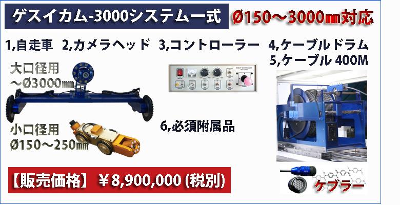 ゲスイカム-3000一式販売価格¥8,900,000
